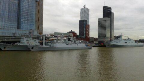 Chinese navy in Rotterdam