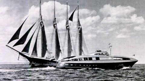 QED streamlined yacht 1938 life