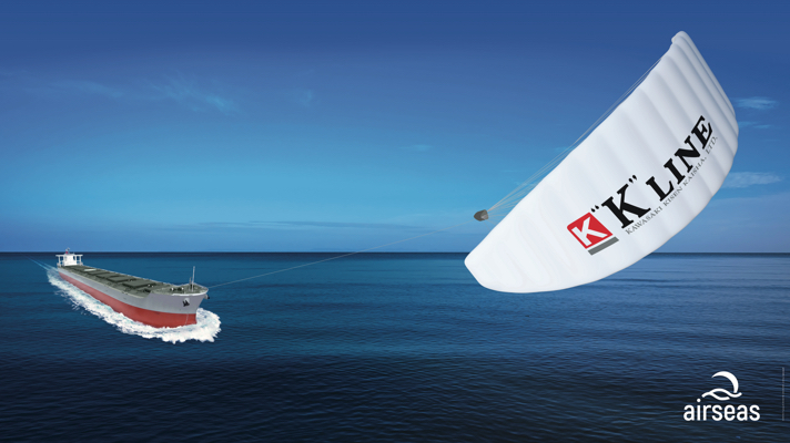K Line to Equip Ships with Automated Kites
