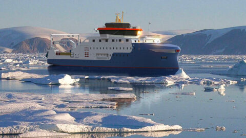 Knud E Hansen research vessel