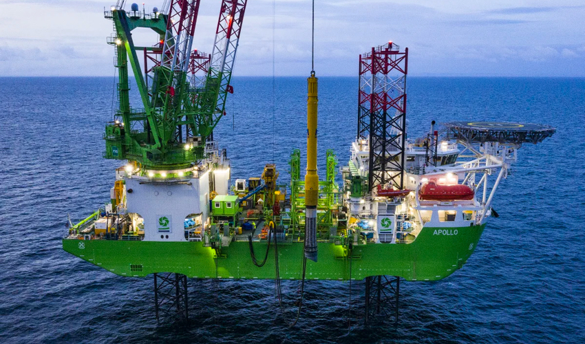 DEME Uses Patented Piling Template at Moray East Offshore Wind Farm