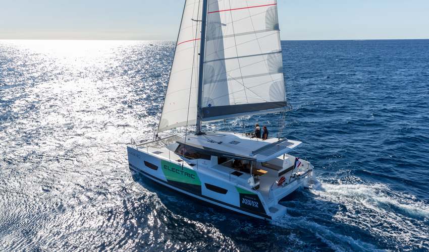 Electric Sailing Catamaran Revealed at Cannes Yachting Festival