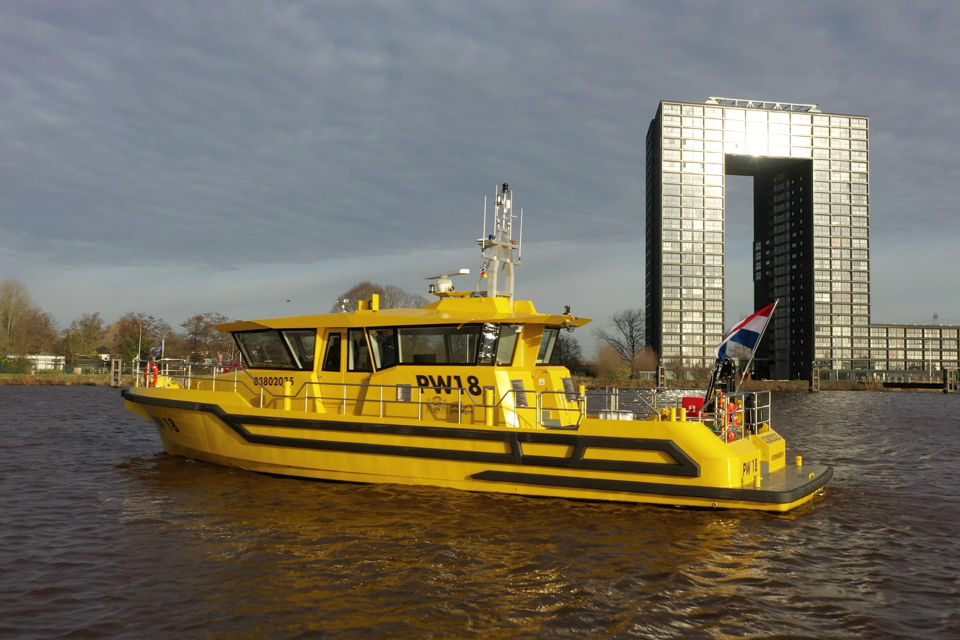 Electric Utility Vessel Enters into Service for Province of Groningen