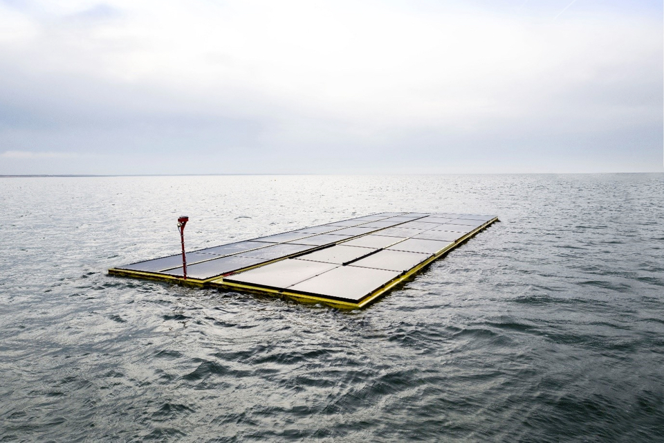 Newly Installed Dutch Offshore Solar Farm Survives First Storms