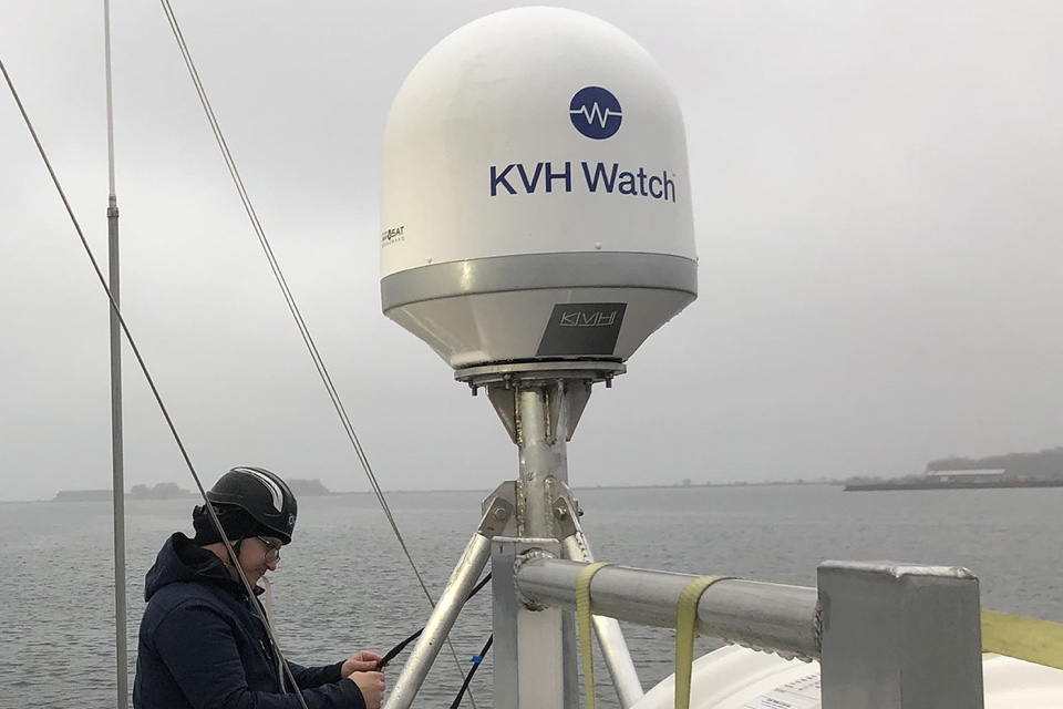 KVH and Kongsberg Install Maritime IoT System on Working Vessel