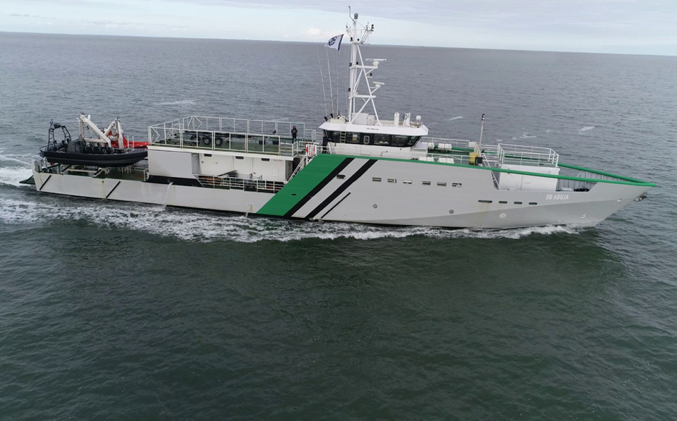 Shipyard De Hoop Delivers First of Two Hybrid Surveillance Vessels