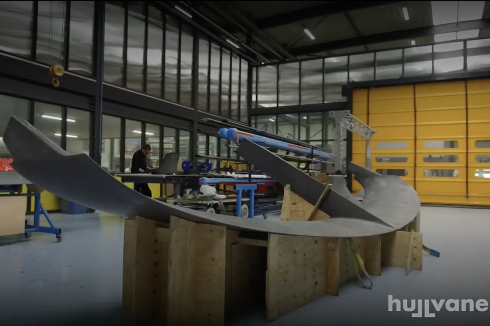 Video: First Hull Vane made of carbon