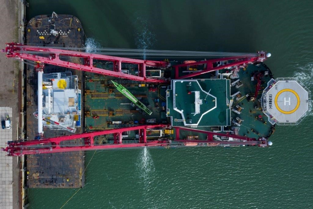 Faster installation with Scaldis' new topside transportation method