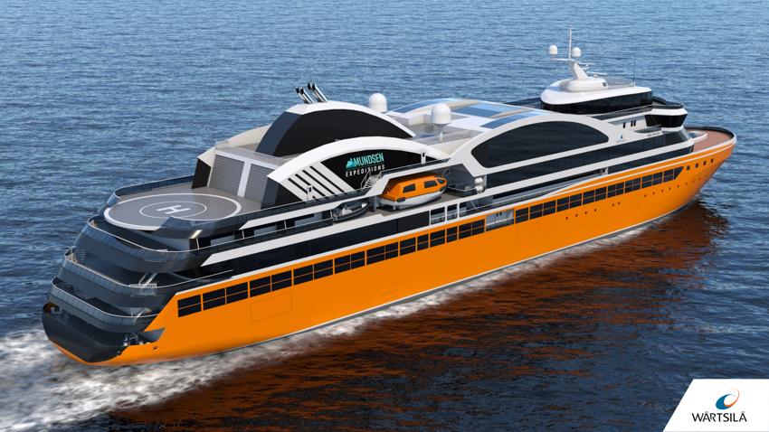 Wärtsilä to design expedition cruise ships for Amundsen