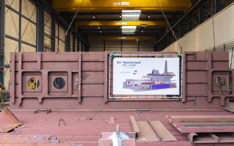 Keel laid for LNG conversion of ferry Münsterland