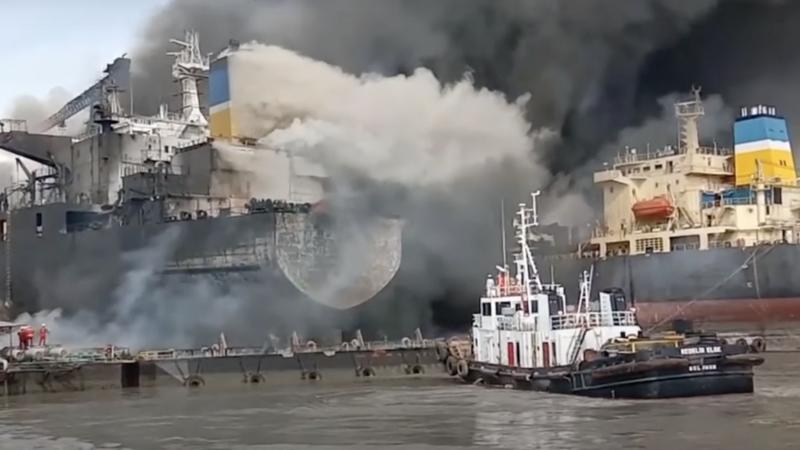 Video – Oil tanker catches fire in Indonesia: seven dead