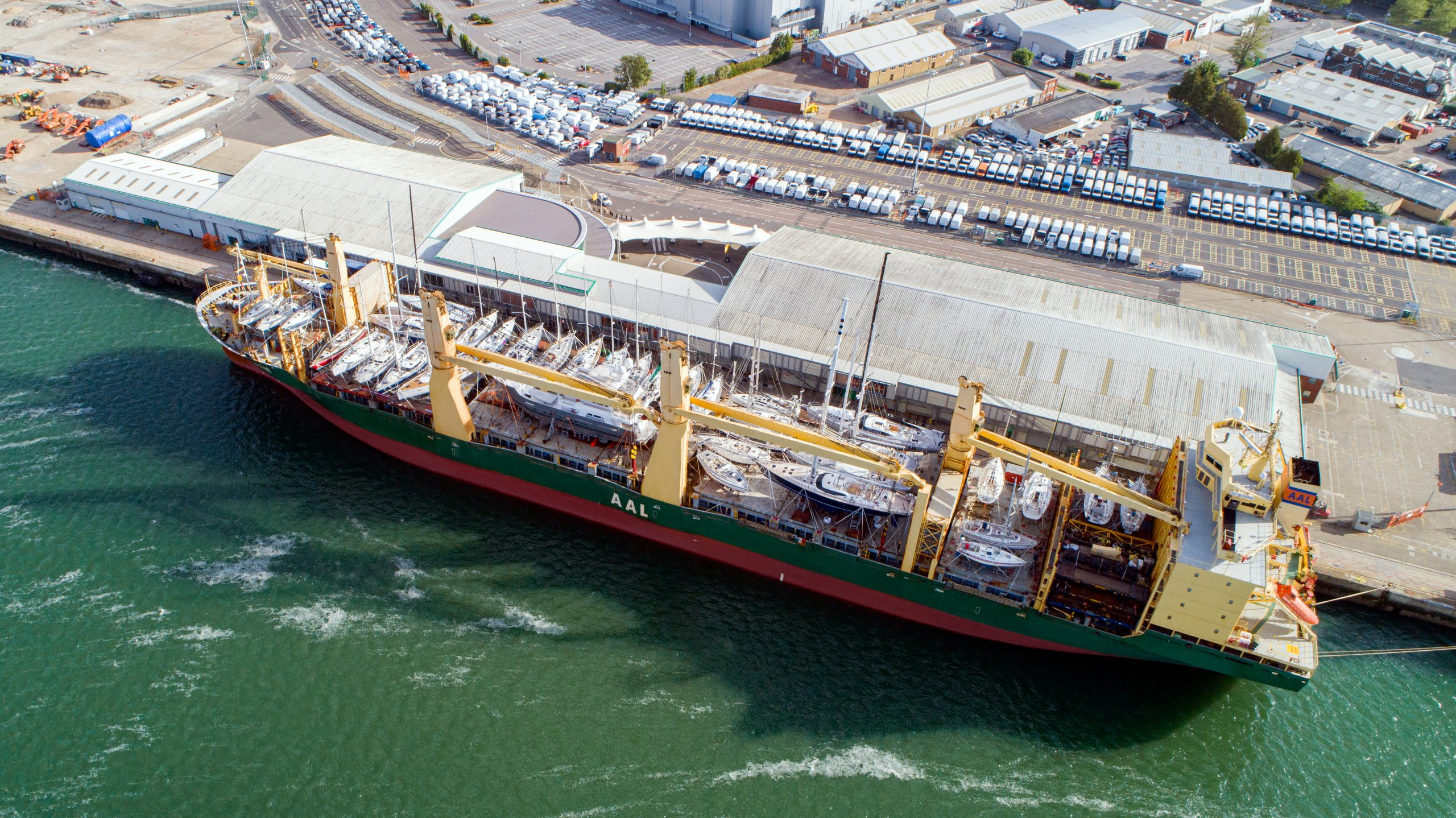 AAL moves 38 yachts in one go