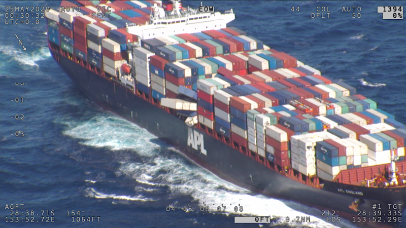 Charges against master APL England after losing containers off Australia