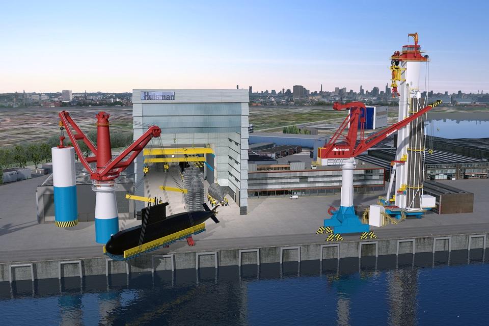 Huisman to lure submarine builders to Schiedam with special crane