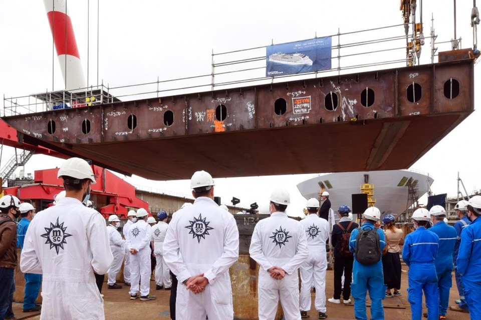 Keel laid for MSC's first LNG-powered cruise ship