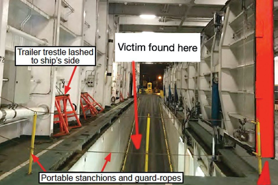 Crew member dies after fall during ramp hatch maintenance