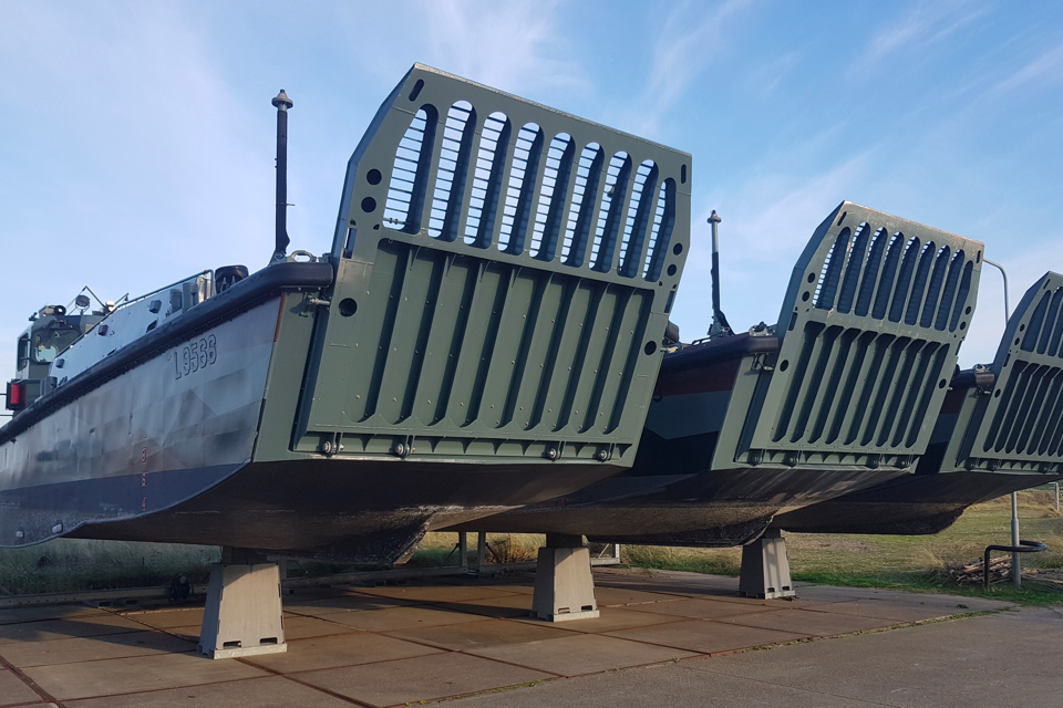 Dutch naval landing craft equipped with ultrasonic anti-fouling