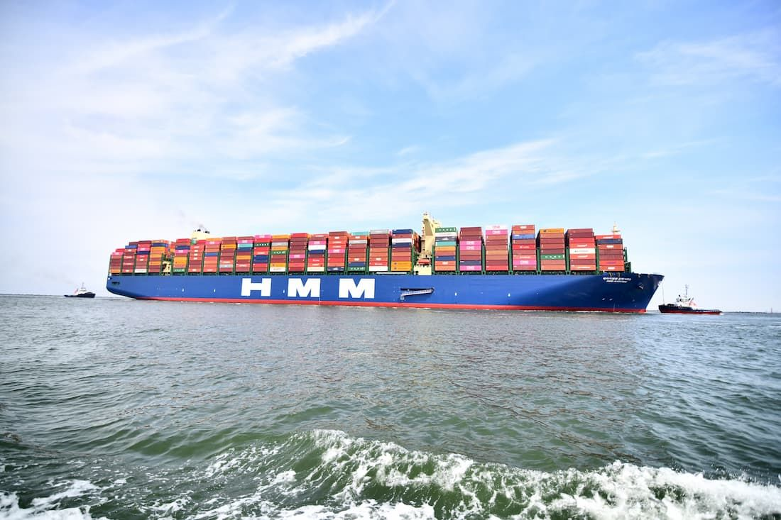 World's largest container ship arrives in Rotterdam
