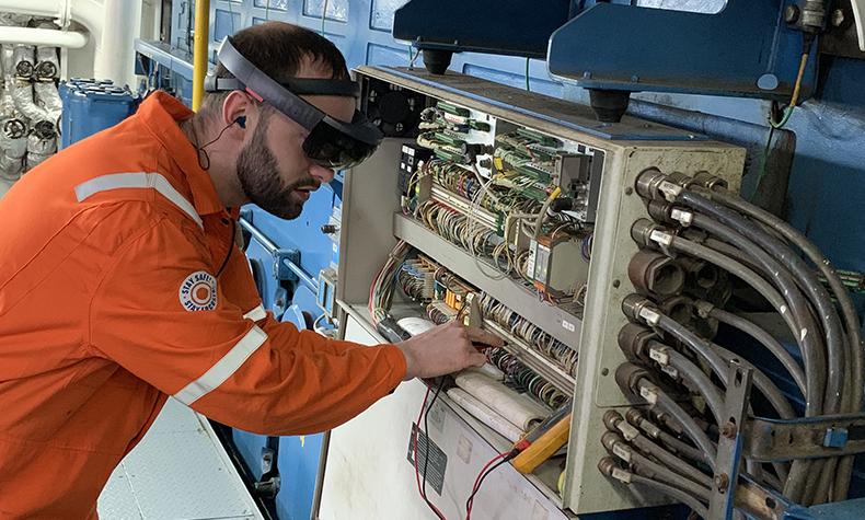 Bakker Sliedrecht remotely services ships via augmented reality glasses