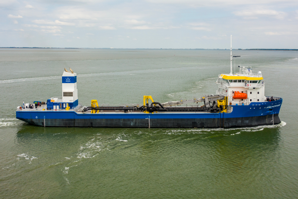Intelligent bus-driven system controls Anchorage's dredging process