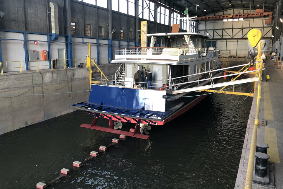 Engine, Hull Vane and bulbous bow retrofit reduce fuel use by 24 per cent