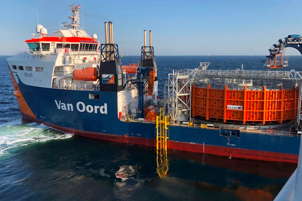 Ørsted and Van Oord install 94 cables at Borssele offshore wind farm