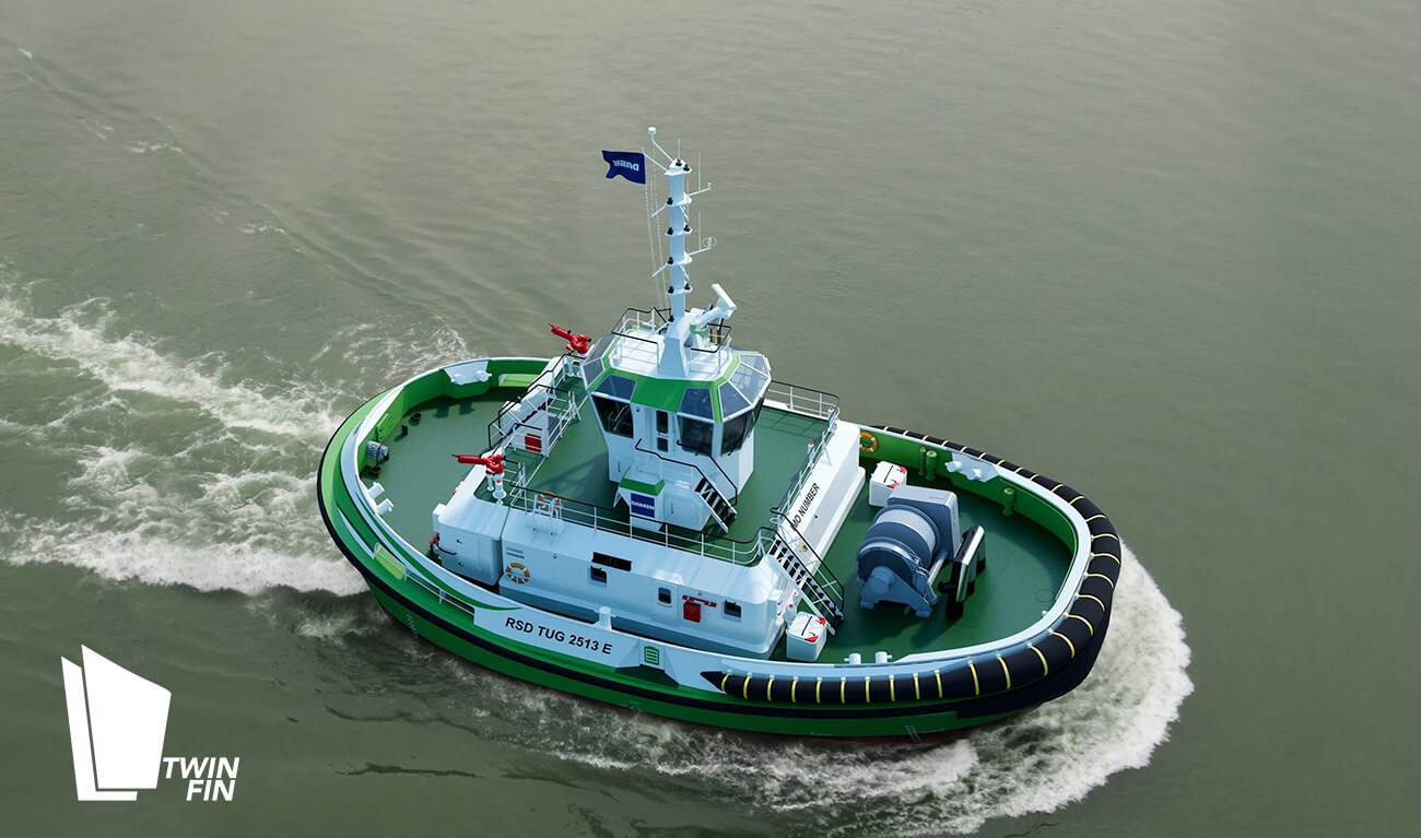 Damen and Echandia to develop world's first fully electric tug