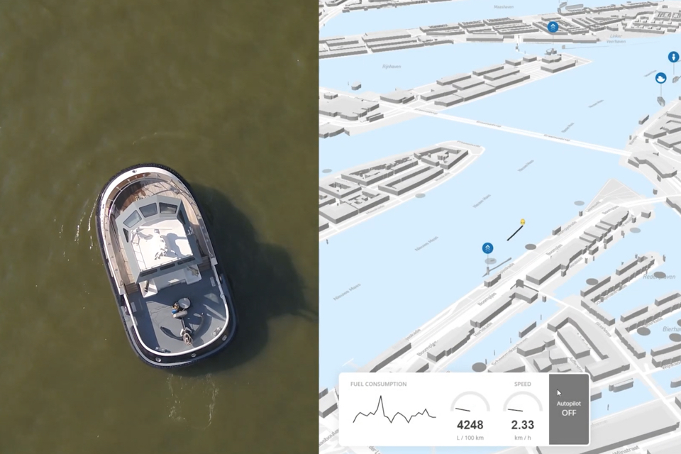 Tug autonomously sails optimal route through port of Rotterdam