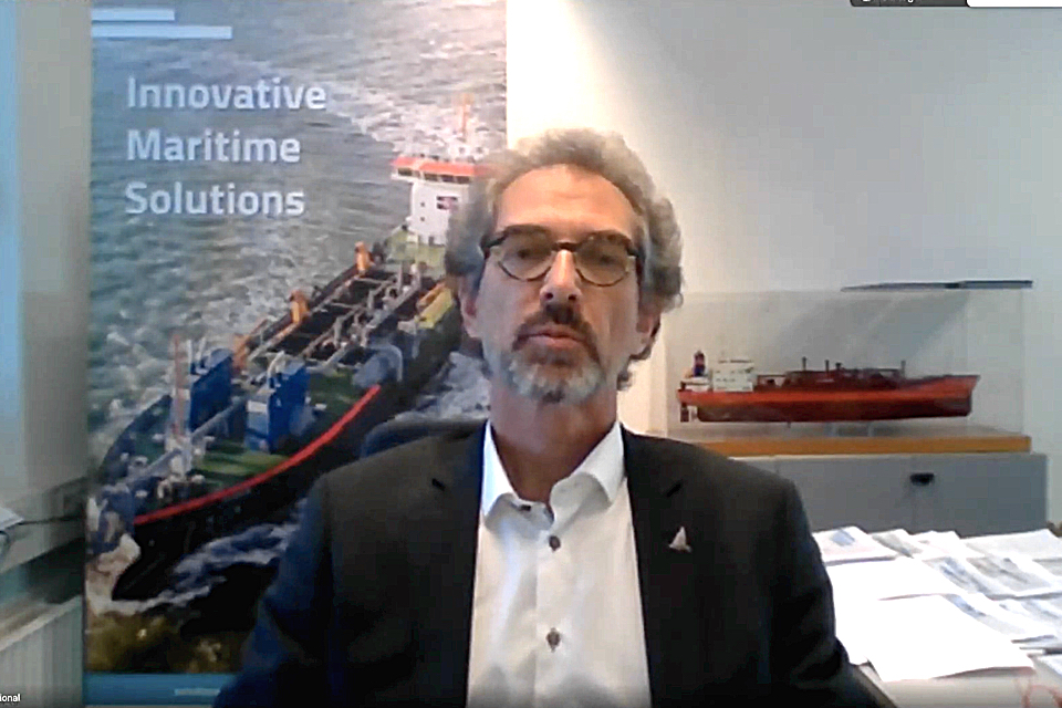 'Reducing shipping emissions starts with wind power and carbon capture'