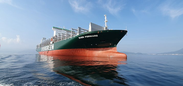 Container ship Ever Forward takes next step to shore-based control