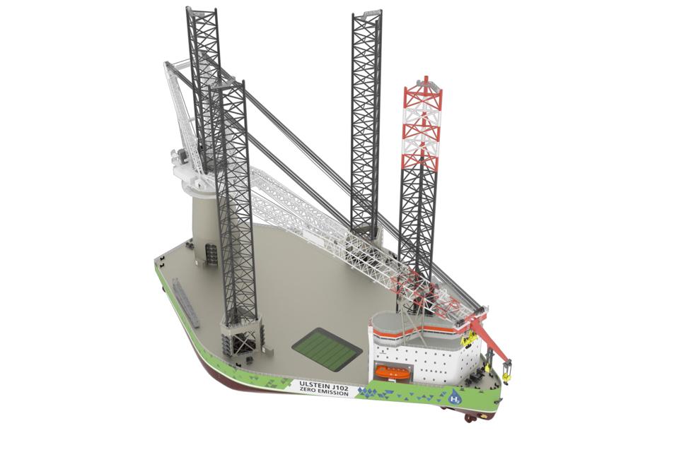 Ulstein presents zero-emission turbine installation vessel design