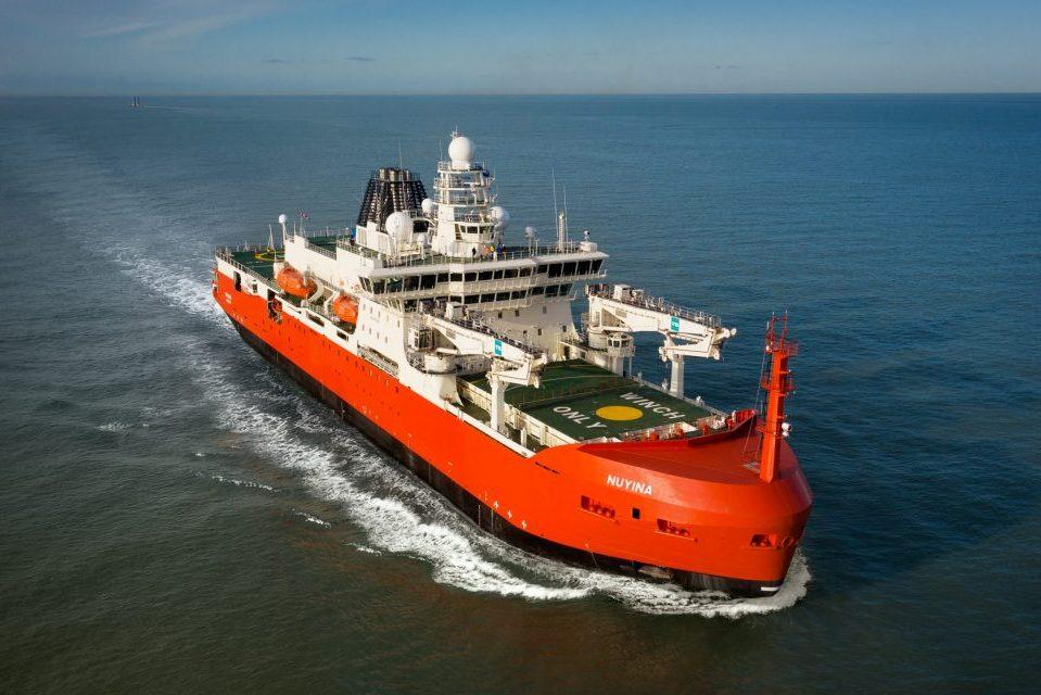 Australian icebreaker Nuyina starts sea trial campaign