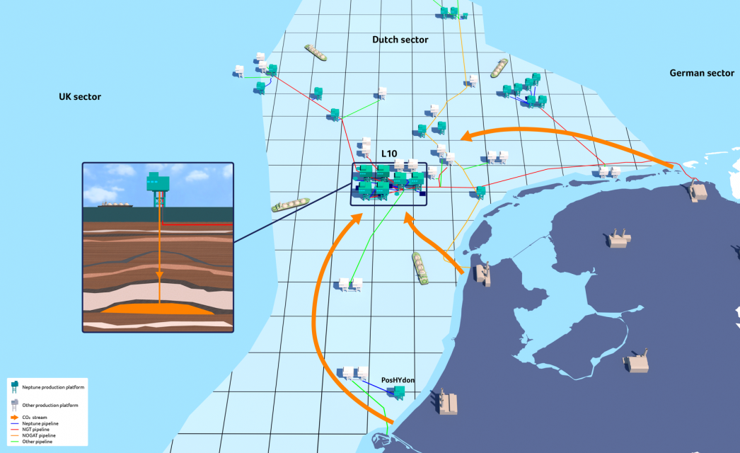 Neptune plans to capture CO2 in depleted Dutch North Sea gas fields