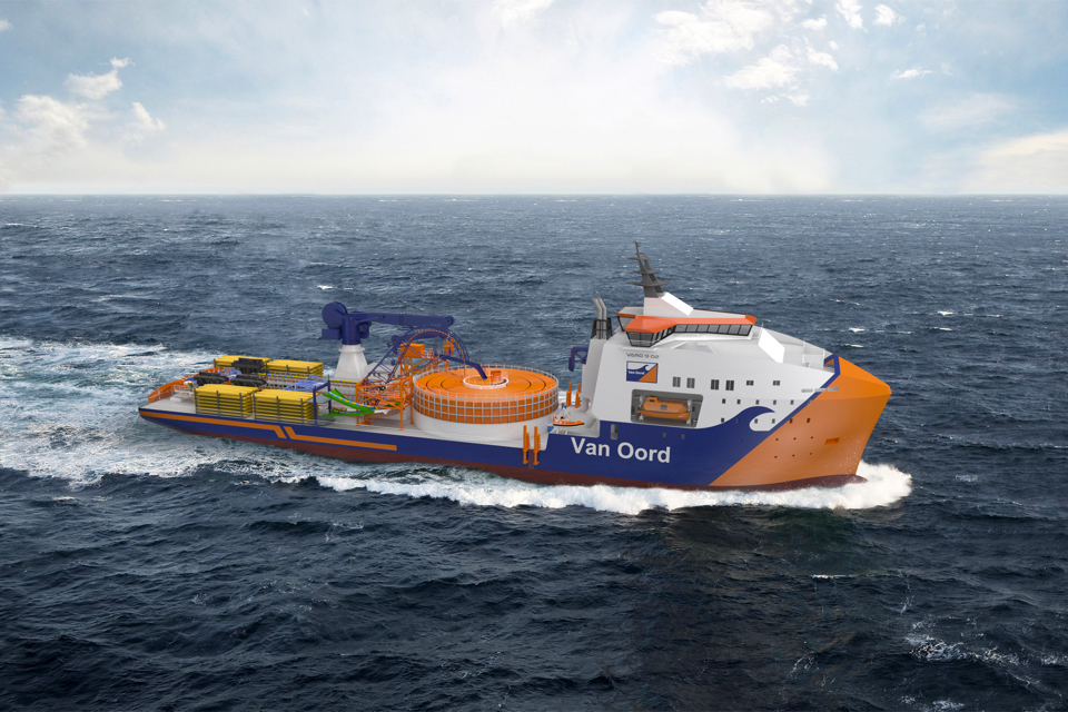 Van Oord orders e-fuel ready cable-laying vessel from VARD