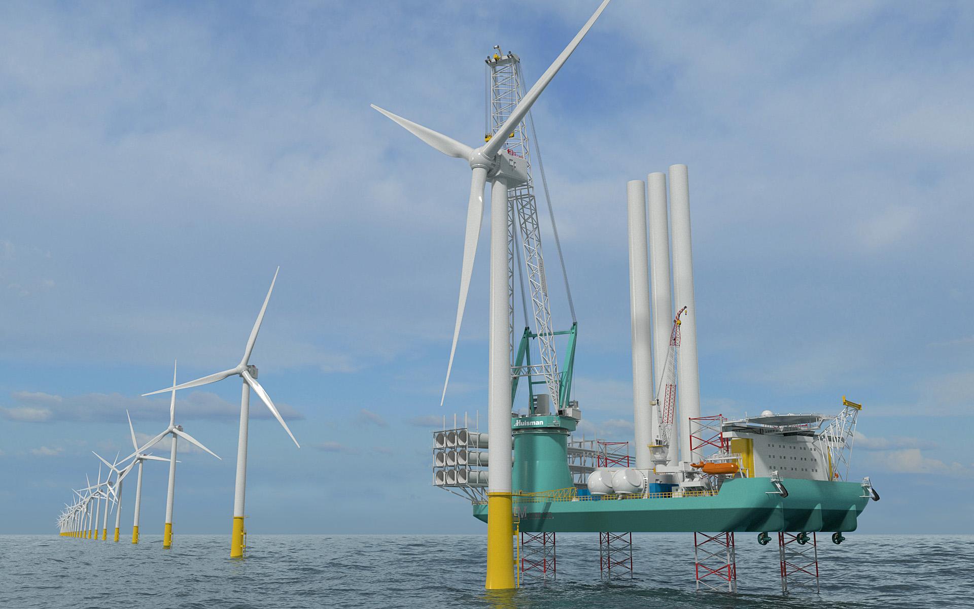 Huisman to build 2600-mt crane for OIM Wind's new installation vessel