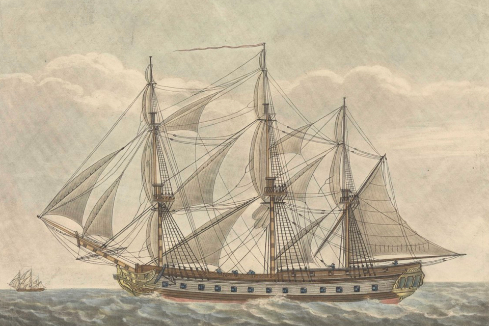 Divers find cannons of sunken British warship from 1799