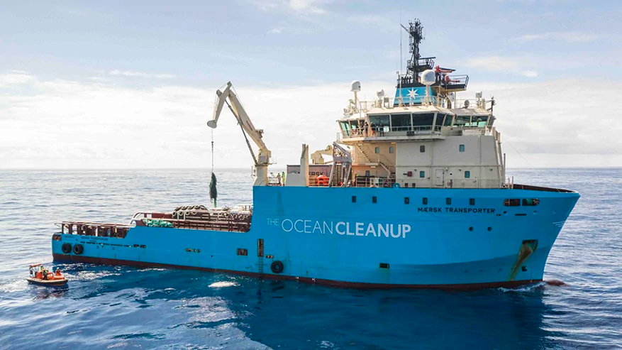 Maersk fleet to help Ocean Cleanup map plastic concentrations at sea