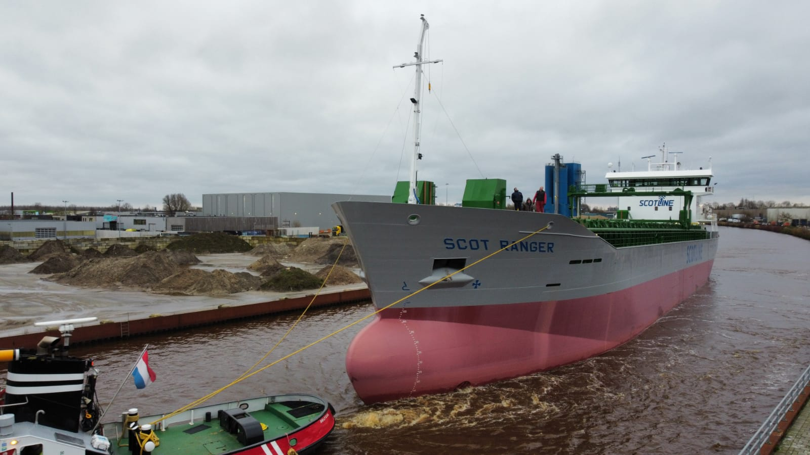 Royal Bodewes sends third Trader 4800 for Scotline on sea trials
