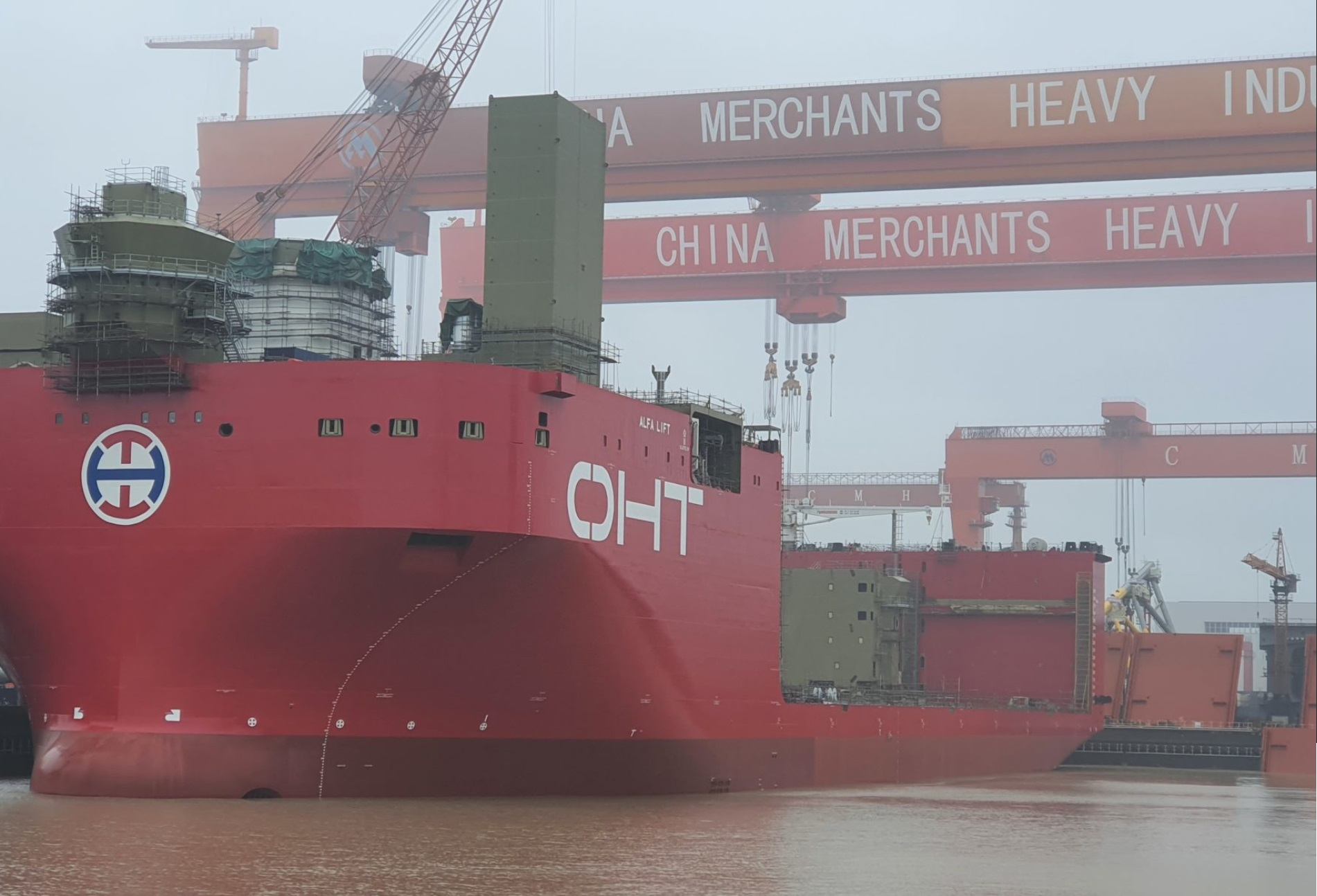OHT's Alfa Lift launched and prepared for crane installation