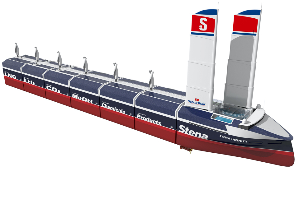 Stena Bulk presents hydrogen bulk carrier with wing sails