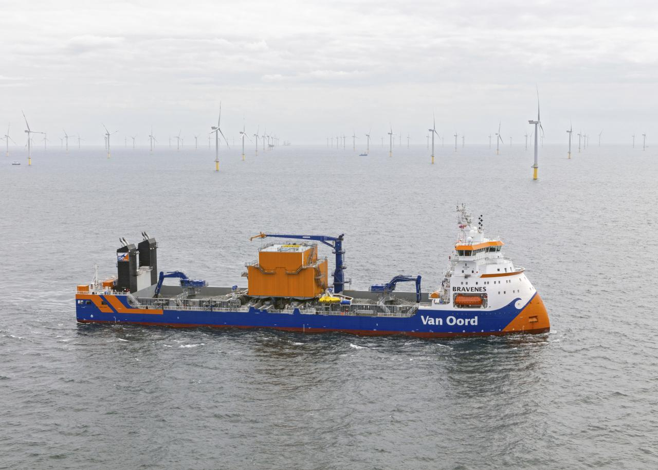 Hydrogen and methanol injection to improve combustion on Van Oord's Bravenes