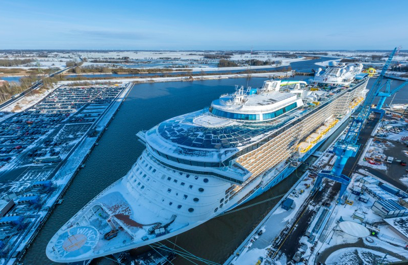 Cruise ship Odyssey of the Seas has left Meyer Werft for sea trials