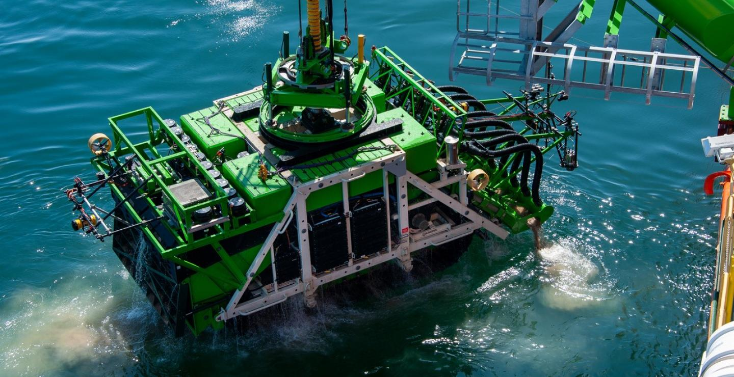 Nodules collected 4.5 kilometres below the surface in deepsea mining trial
