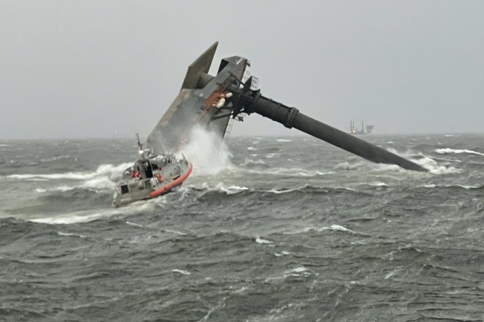 One dead and twelve missing after liftboat capsizes off Louisiana coast