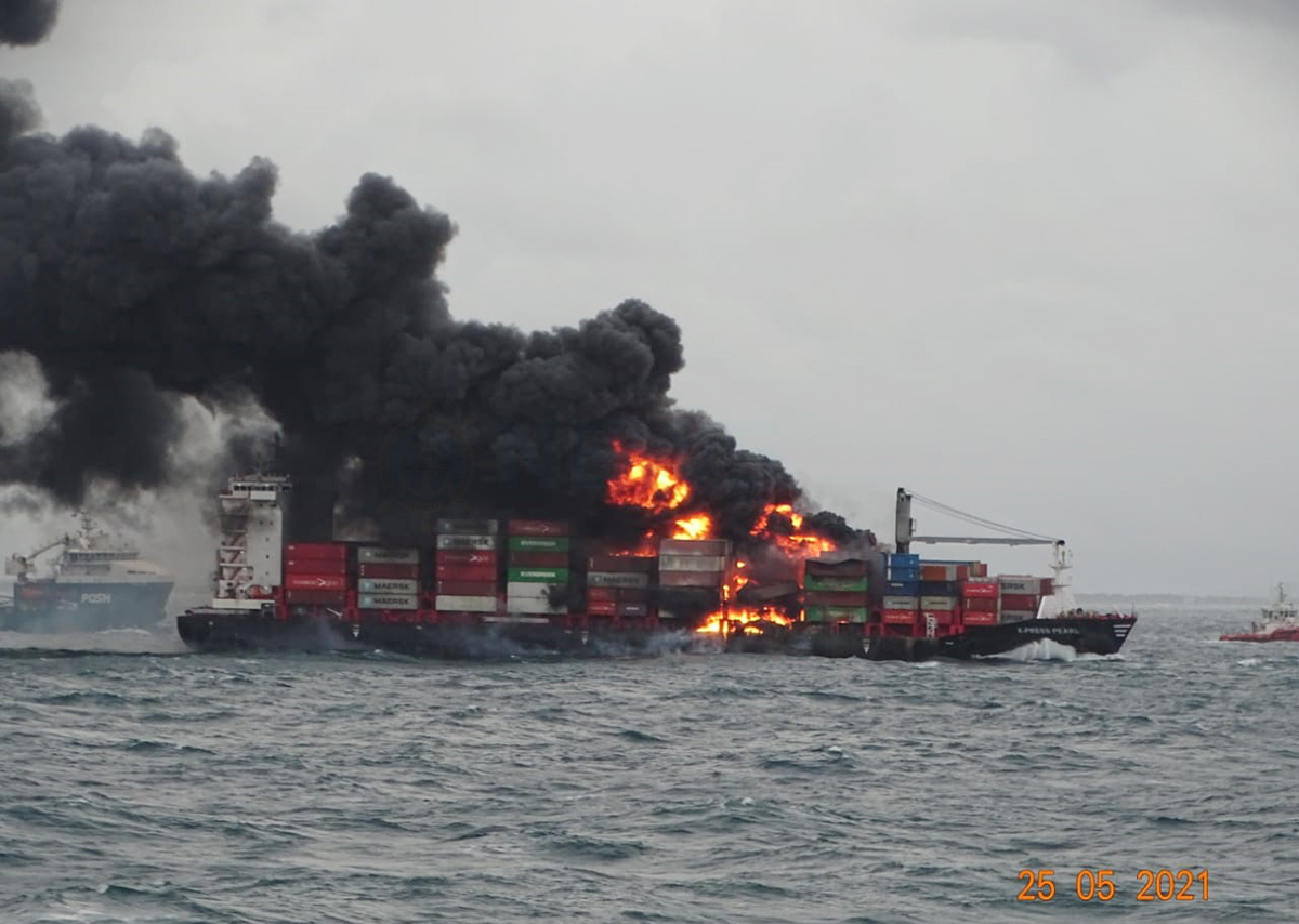 Container leaking acid on board X-Press Pearl refused by two ports