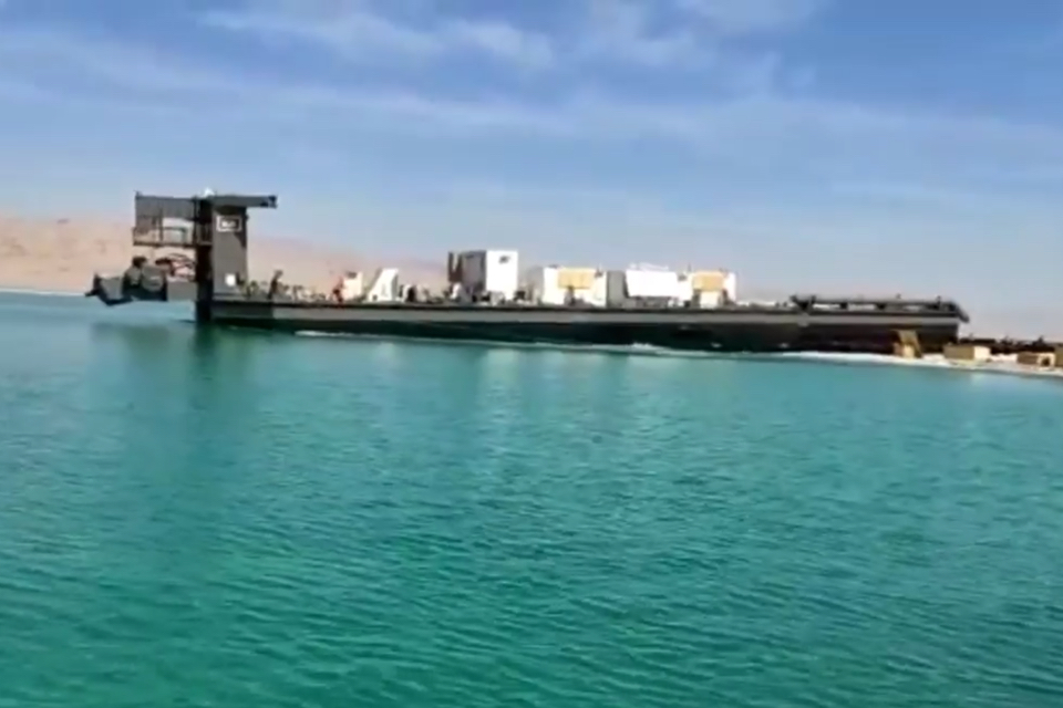 [VIDEO] Royal IHC launches dredger Alyarmouk at the Dead Sea