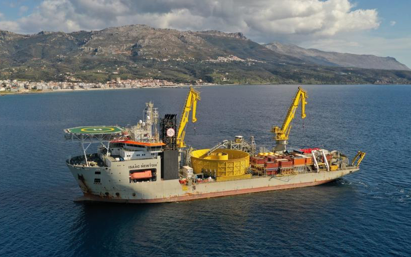 Jan De Nul installs subsea cable that connects Crete to Greek mainland