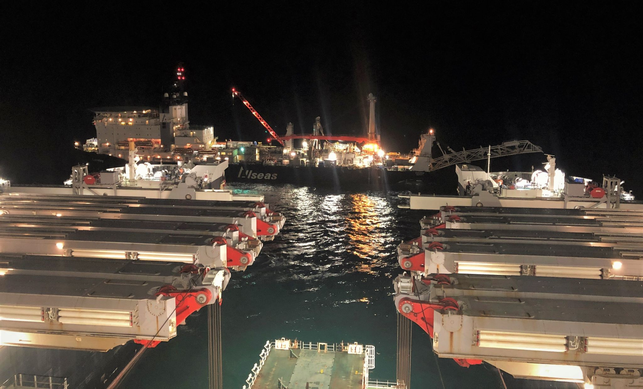 Pioneering Spirit lays over five kilometres of Baltic gas pipeline a day