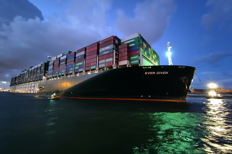 Container ship Ever Given finally arrives in Rotterdam