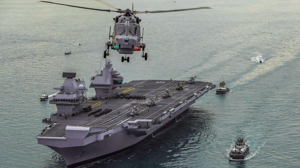 Covid outbreak on British Navy flagship during maiden voyage